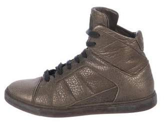 Brunello Cucinelli Metallic High-Top Sneakers