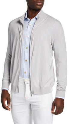 Kiton Men's Wool Zip-Front Sweater