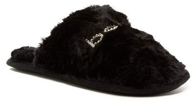 bebe Charee Faux Fur Embellished Slipper