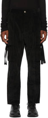 Song For The Mute Black Kick Cropped Cargo Pants