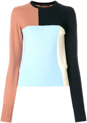 Cédric Charlier colour-block fitted sweater