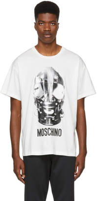 Moschino White Mask T-Shirt