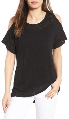 Women's Bobeau Cold Shoulder Slub Knit Tee $39 thestylecure.com