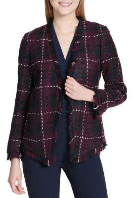Calvin Klein Tweed Windowpane Jacket