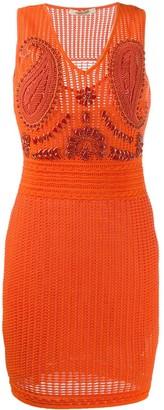 Roberto Cavalli embellished tube short dress
