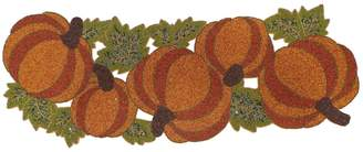 """Celebrate Fall Together Beaded Pumpkin Table Runner - 36"""""""