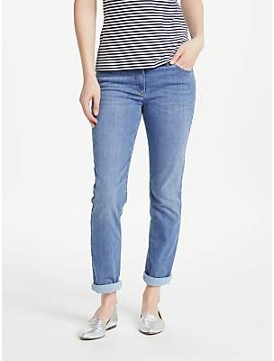 Gerry Weber Perfect Fit Slim Leg Short Jeans, Used Blue