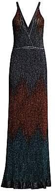 M Missoni Women's Glitter Ombré Lurex Knit Maxi Dress