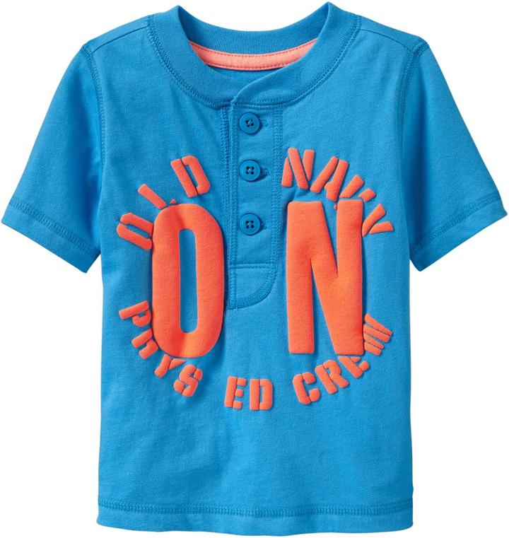 Old Navy Team-Style Logo Henleys for Baby