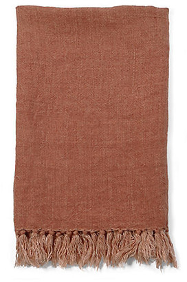 Pom Pom at Home Montauk Linen Throw - Terracotta