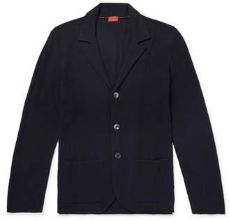 Isaia Slim-Fit Textured Merino Wool Cardigan