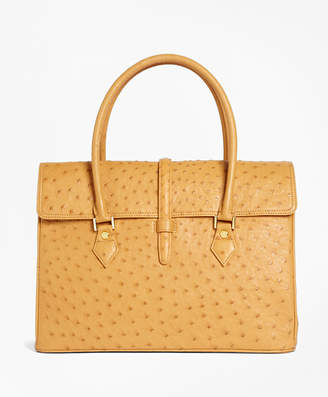 Brooks Brothers Ostrich Large Satchel