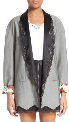 Women's Alexander Wang Lace Trim Blazer $1,095 thestylecure.com