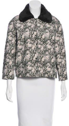 Tory BurchTory Burch Fatima Fur Collar Jacket