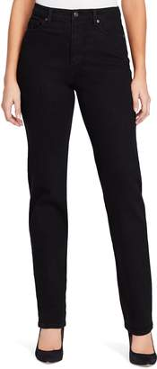 Gloria Vanderbilt Women's Amanda Embellished High-Waisted Tapered Jeans