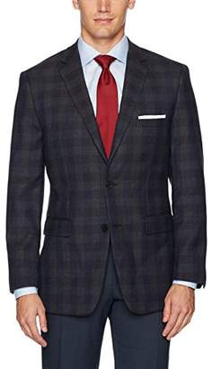 Vince Camuto Men's Modern Fit Windowpane Sport Coat