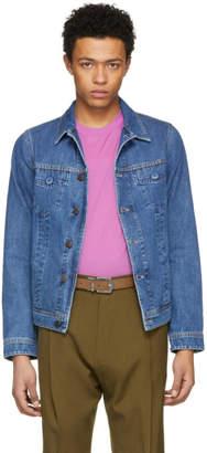 Lanvin Blue Inside Out Denim Trucker Jacket