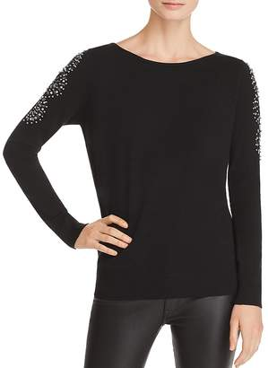 Sioni Embellished Slit-Sleeve Sweater