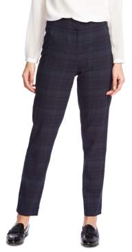 1 STATE 1.State 1.state Plaid Flat-Front Pants