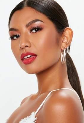 Missguided Clear Hoop Earrings