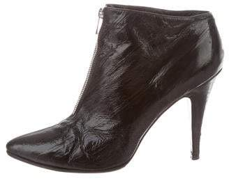 Sigerson Morrison Embossed Patent Leather Booties