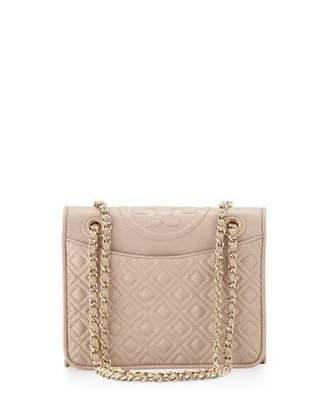 Tory Burch Fleming Medium Quilted Shoulder Bag, Light Oak $475 thestylecure.com