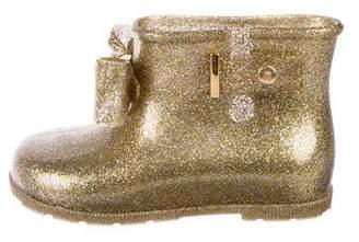Mini Melissa Glitter Jelly Bow Boots