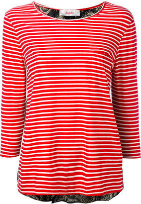 Jucca three-quarters sleeve striped T-shirt $158.32 thestylecure.com