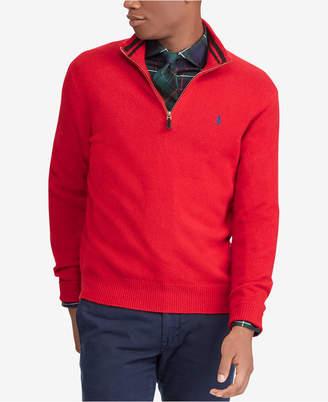 Polo Ralph Lauren Men Cashmere Blend Half-Zip Sweater
