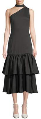 REJINA PYO Lizzie One-Shoulder Tiered Flounce Dress