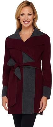 Susan Graver Weekend Lightweight Fleece Wrap Jacket