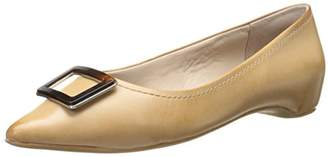Rockport Women's Total Motion 30mm Buckle Burnish Nude Calf Flat (C)