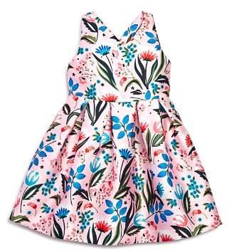 Pippa & Julie Girls' Floral Crisscross-Back Dress - Little Kid
