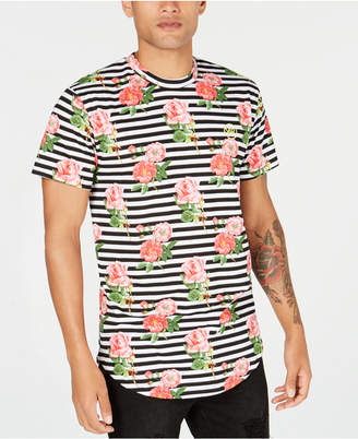 Young & Reckless Men's Striped Floral T-Shirt
