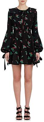 Philosophy di Lorenzo Serafini WOMEN'S CHERRY-PRINT MINI DRESS - BLACK CHERRY PRINT SIZE 42 IT