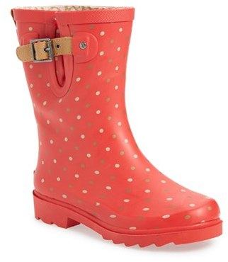 Chooka Women's Chooka 'Classic Dot' Mid High Rain Boot