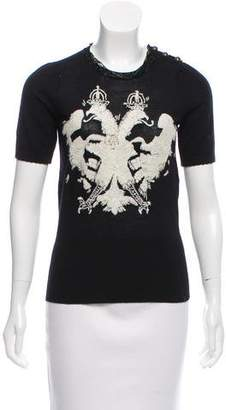 Gianfranco Ferre GF Embroidered Wool Top
