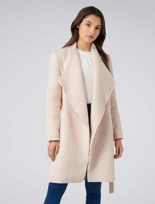 Forever New Nina petite waterfall coat - Cream - 4