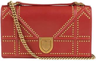 Christian Dior Diorama Shoulder Bag Studded Rust
