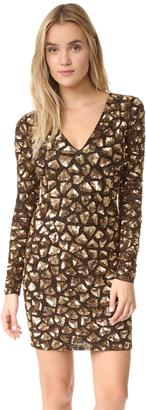 alice + olivia Nora Embellished V Neck Dress $995 thestylecure.com
