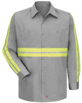 Red Kap Men's Enhanced Visibility Cotton Work Shirt