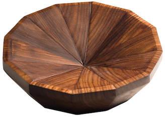 "Calvin Klein Alan & Co. Wooden Bowl ""The Geo Round"""