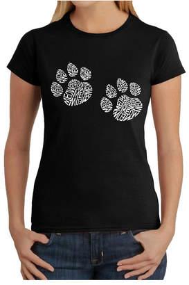 Women Word Art T-Shirt - Meow Cat Prints