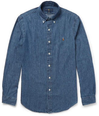 at Mr. Porter · Polo Ralph Lauren Slim-Fit Button-Down Collar Washed-Denim  Shirt 170d0f2406