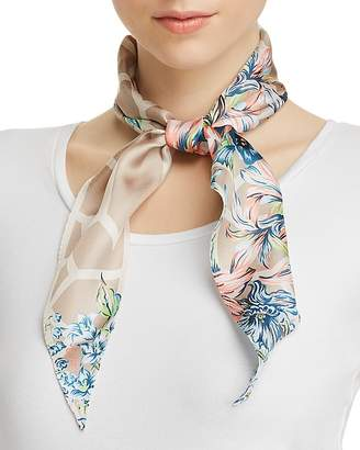 Echo Adelaide Floral Print Silk Diamond Scarf