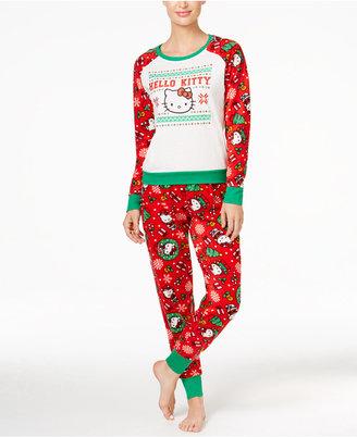 Hello Kitty Holly Jolly Kitty Christmas Pajama Set $45 thestylecure.com