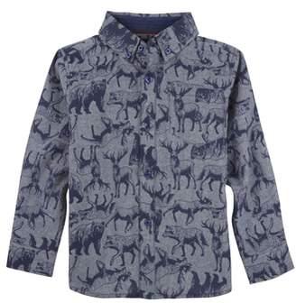 Andy & Evan Animal Print Woven Shirt