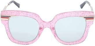 Gucci Square Vintage Web & Glitter Sunglasses