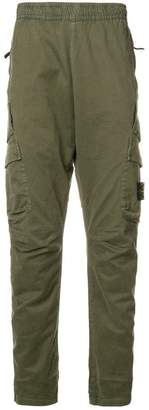 Stone Island elasticated waist tapered trousers