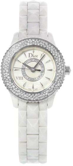 Christian Dior  Christian Dior VIII CD1221E4C001 Ceramic Quartz 29mm Womens Watch